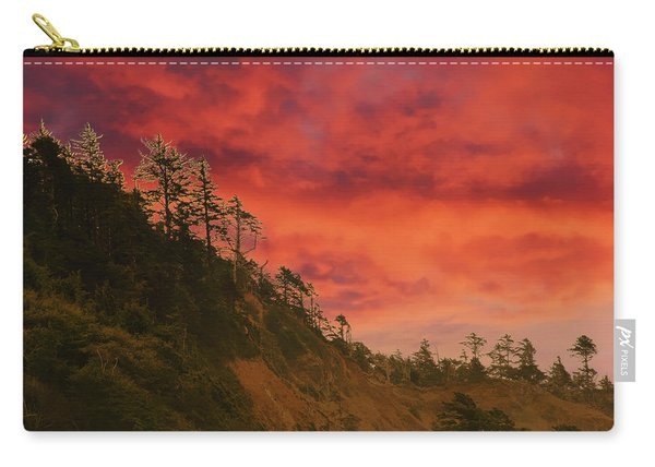 Silhouette Of Conifer Against  Seacoast  Carry-all Pouch