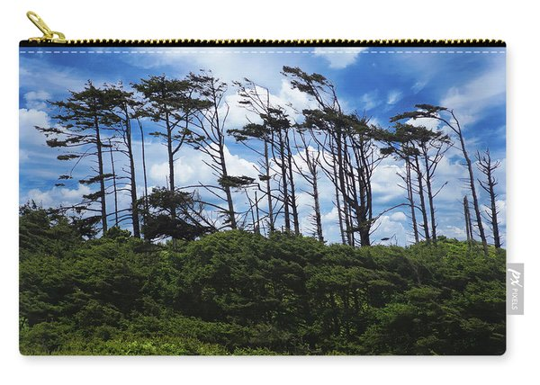 Silhouettes Of Wind Sculpted Krumholz Trees  Carry-all Pouch