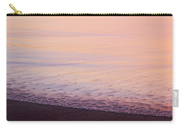 Carry-all Pouch featuring the photograph Silky Sea by Whitney Goodey