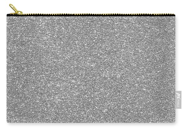 Silver Glitter  Carry-all Pouch