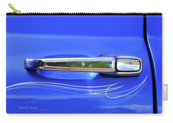 Silver Handle In Blue - Car Show Photo Carry-all Pouch