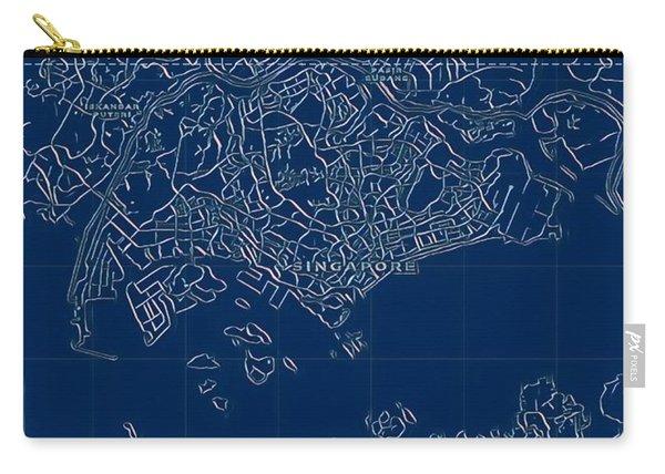 Singapore Blueprint City Map Carry-all Pouch