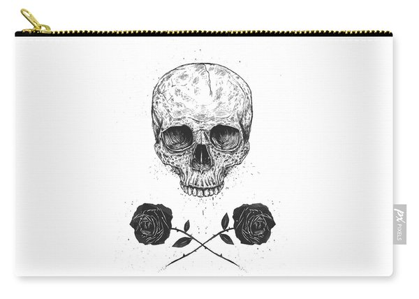 Skull N' Roses Carry-all Pouch