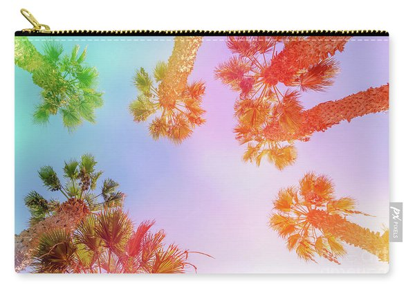 Sky And Palm Trees Carry-all Pouch