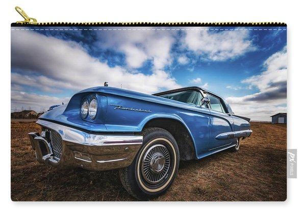 Sky Blue Ford Thunderbird Carry-all Pouch