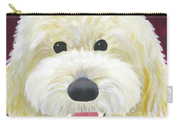 Carry-all Pouch featuring the painting Skyler by Suzy Mandel-Canter