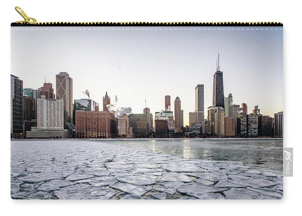 Skyline And Cracks In The Water Carry-all Pouch