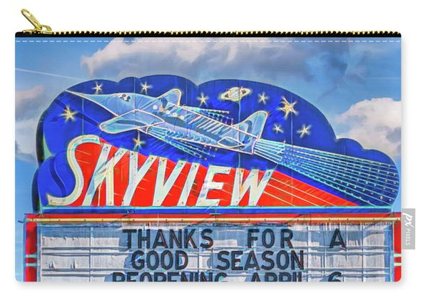 Skyview Drive-in Theater Neon Sign Carry-all Pouch