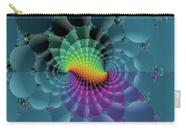 Slate Blue Fractal Carry-all Pouch
