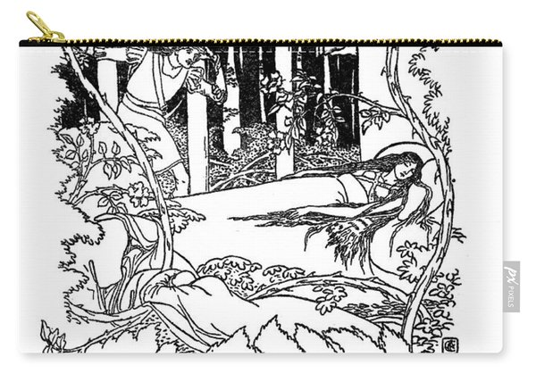 Sleeping Beauty Illustrated By Walter Crane Carry-all Pouch