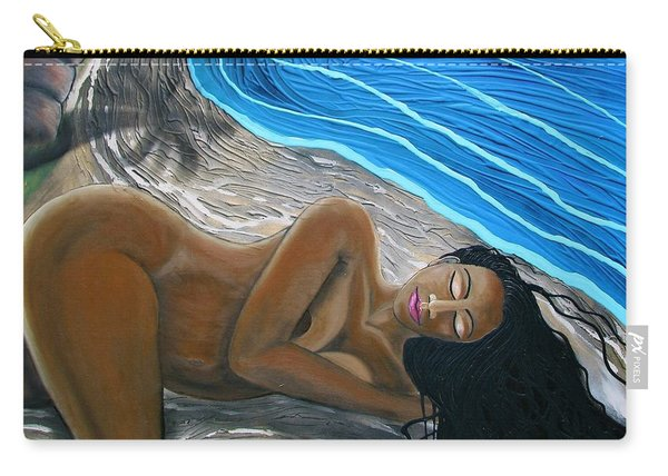 Sleeping Nude Carry-all Pouch