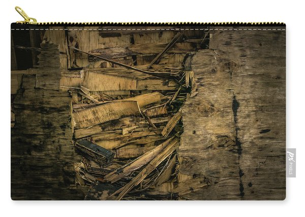 Smashed Wooden Wall Carry-all Pouch