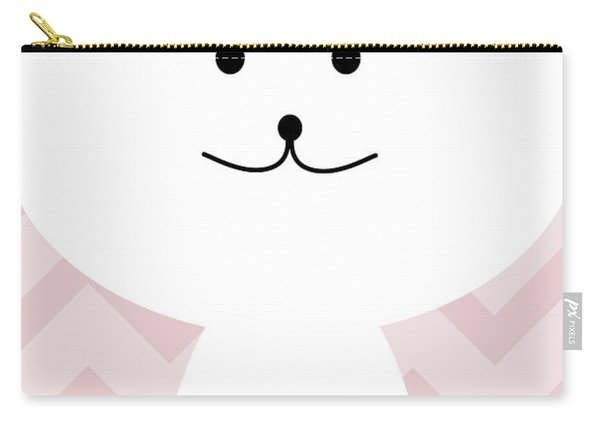 Smiling Cat Girl Nursery Art Carry-all Pouch