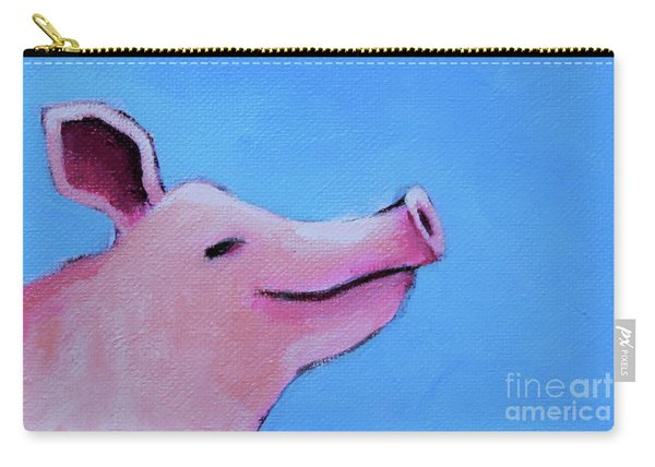 Smiling Pig Carry-all Pouch