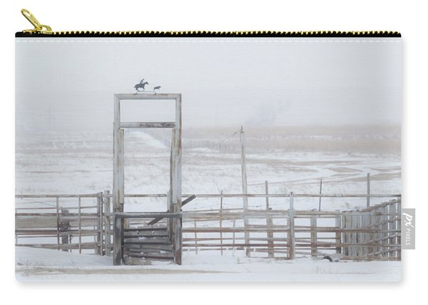 Carry-all Pouch featuring the photograph Snow And Corral 01 by Rob Graham