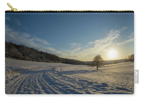 Snow And Sunset Carry-all Pouch