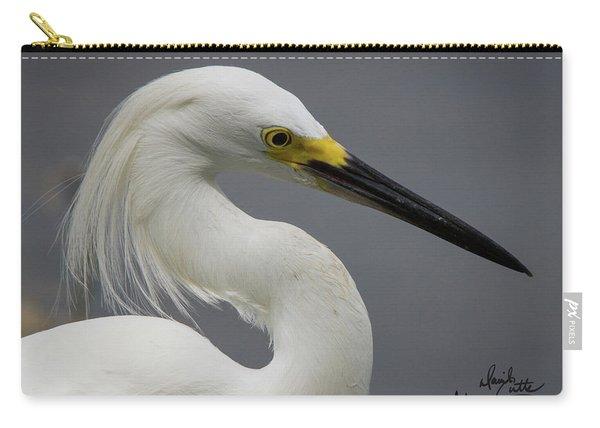 Snow Egret Portrait Carry-all Pouch