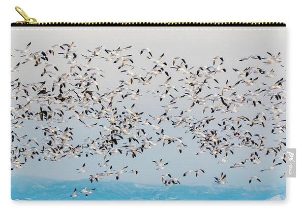 Snow Geese And Canada Geese Carry-all Pouch