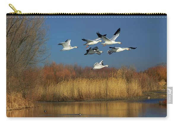 Snow Geese Flying, Bosque Del Apache Carry-all Pouch