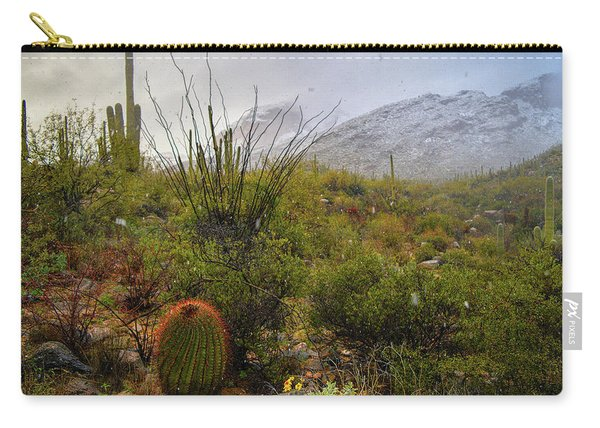 Snow In The Desert Carry-all Pouch