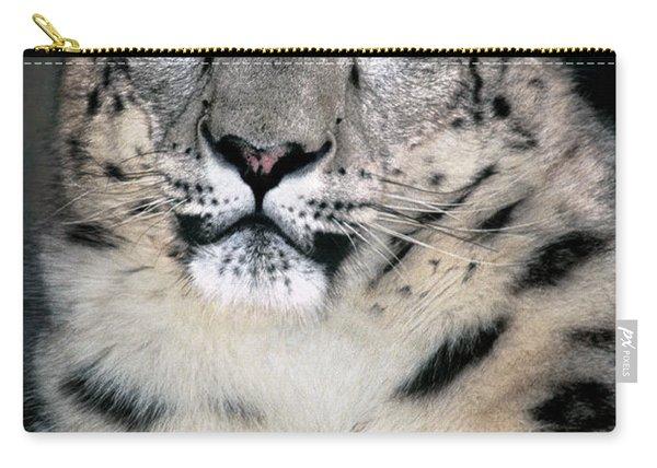 Snow Leopard Portrait Endangered Species Wildlife Rescue Carry-all Pouch