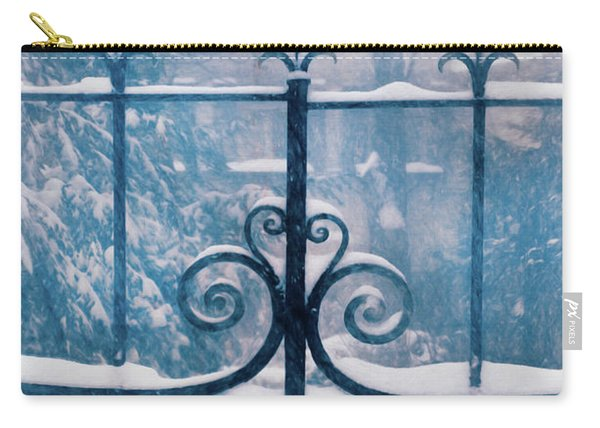 Snow On Iron Gate Carry-all Pouch