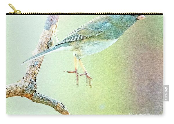 Snowbird Jumps From Tree Branch Carry-all Pouch