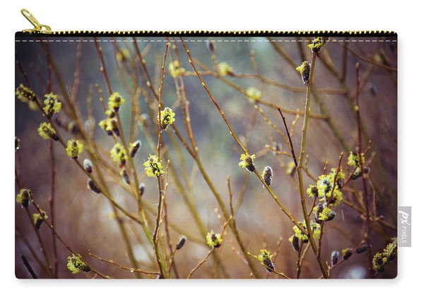 Snowfall On Budding Willows Carry-all Pouch