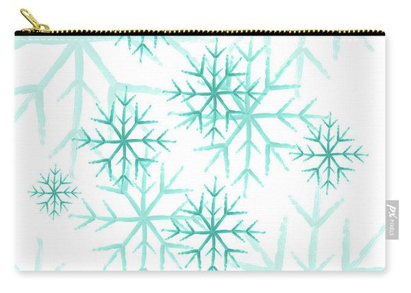 Snowflakes In Blue Carry-all Pouch