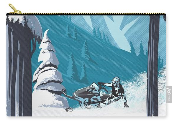 Snowmobile Landscape Carry-all Pouch