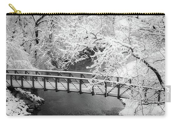 Snowy Bridge On Mill Creek Carry-all Pouch
