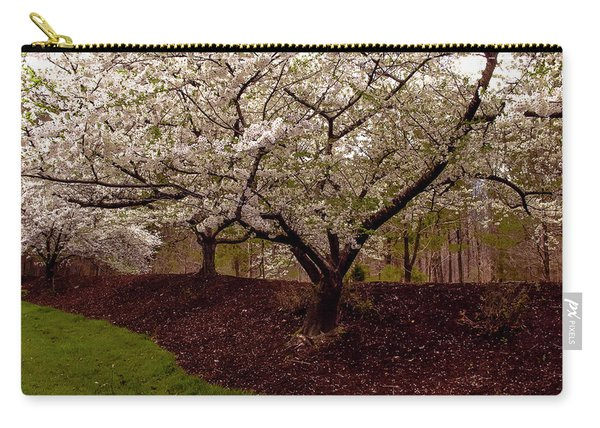 Snowy Cherry Blossoms Carry-all Pouch