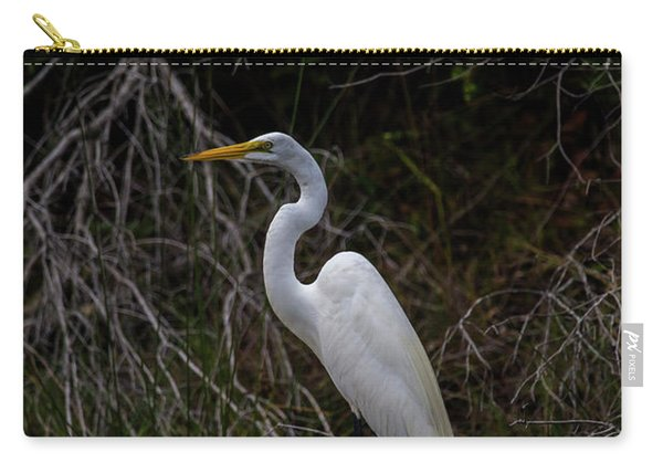 Snowy Egret On A Hot Summer Day Carry-all Pouch