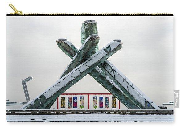Snowy Olympic Cauldron Carry-all Pouch