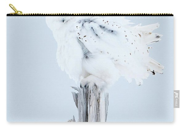 Snowy Owl Feather Shake Carry-all Pouch