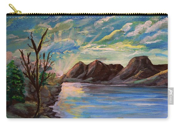 Snowy Range And Lookout Lake Carry-all Pouch