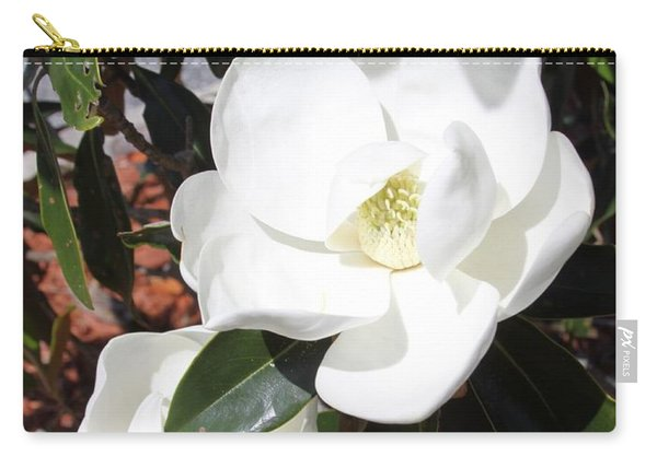 Snowy White Gardenia Blossoms Carry-all Pouch