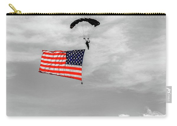 Socom Flag Jump In Selective Color Carry-all Pouch