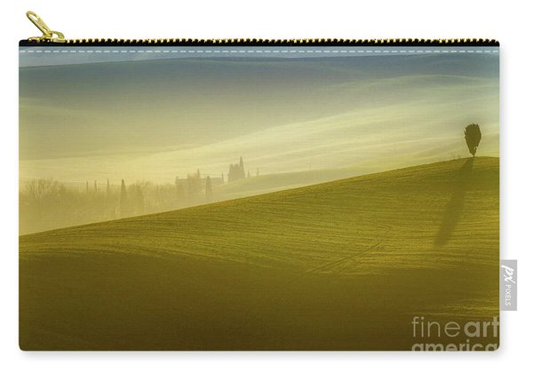 Solitary Tree On The Hill In Crete Senesi Carry-all Pouch