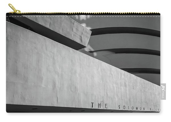 Carry-all Pouch featuring the photograph Solomon R Guggenheim Museum by Michael Hope