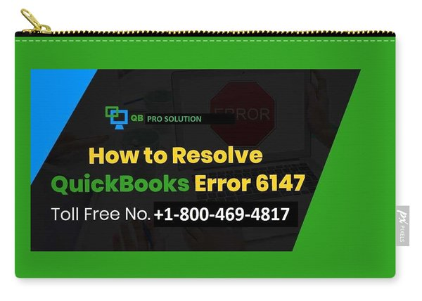 Solution Quickbooks Web Connector Error 6147,0 Carry-all Pouch