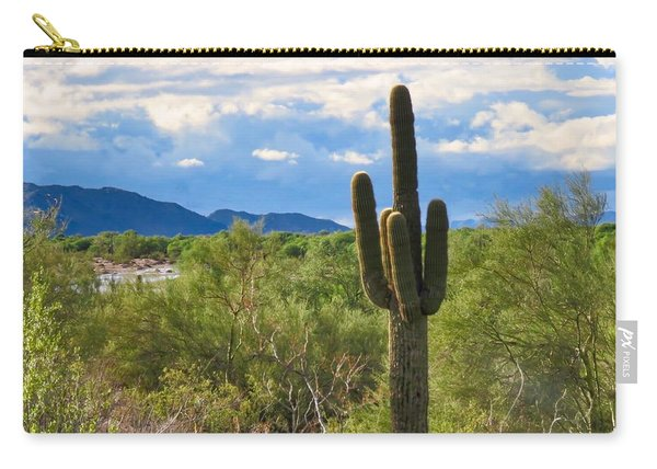Sonoran Desert Landscape Post-monsoon Carry-all Pouch