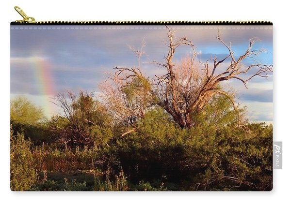 Sonoran Desert Spring Rainbow Carry-all Pouch