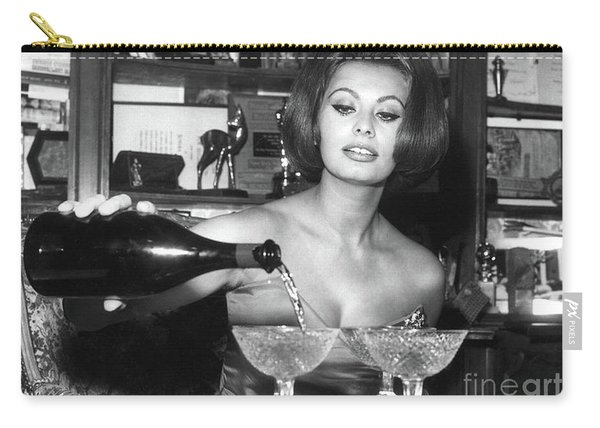 Sophia Loren, Coupe Champagne Glasses Carry-all Pouch