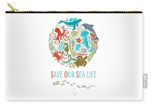 Save Our Sea Life Carry-all Pouch