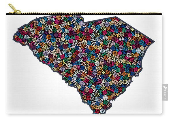 South Carolina Map - 1 Carry-all Pouch