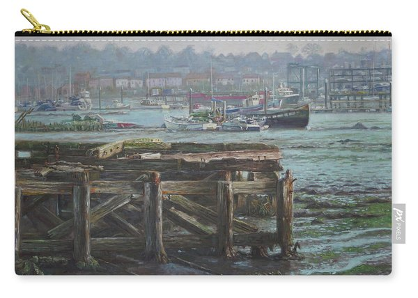 Carry-all Pouch featuring the painting Southampton Northam Summer Evening Across The Itchen by Martin Davey