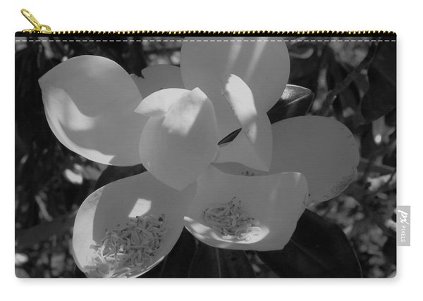 Southern Magnolia In Black And White Carry-all Pouch