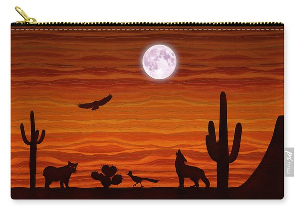 Southwest Desert Silhouette Carry-all Pouch