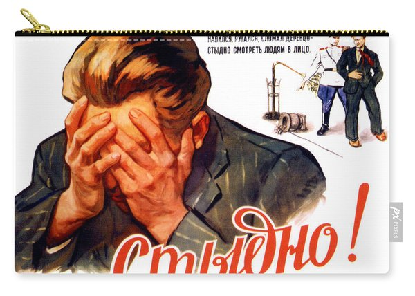 Soviet Anti-alcoholism Propaganda Poster Carry-all Pouch